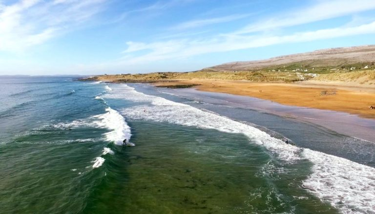 Drone view of Fanore Beach