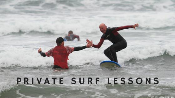 Private surf lesson in Clare