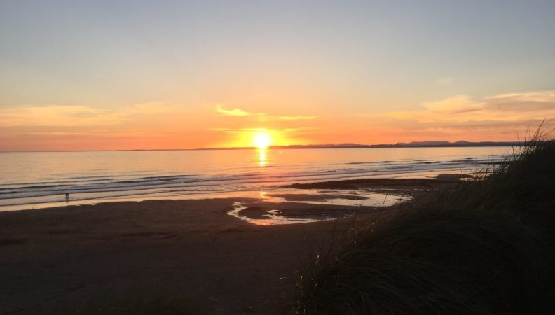 Sunset at Fanore Beach on the Wild Atlantic Way